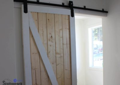 Abbotsford-Custom-Home-sliding barn door